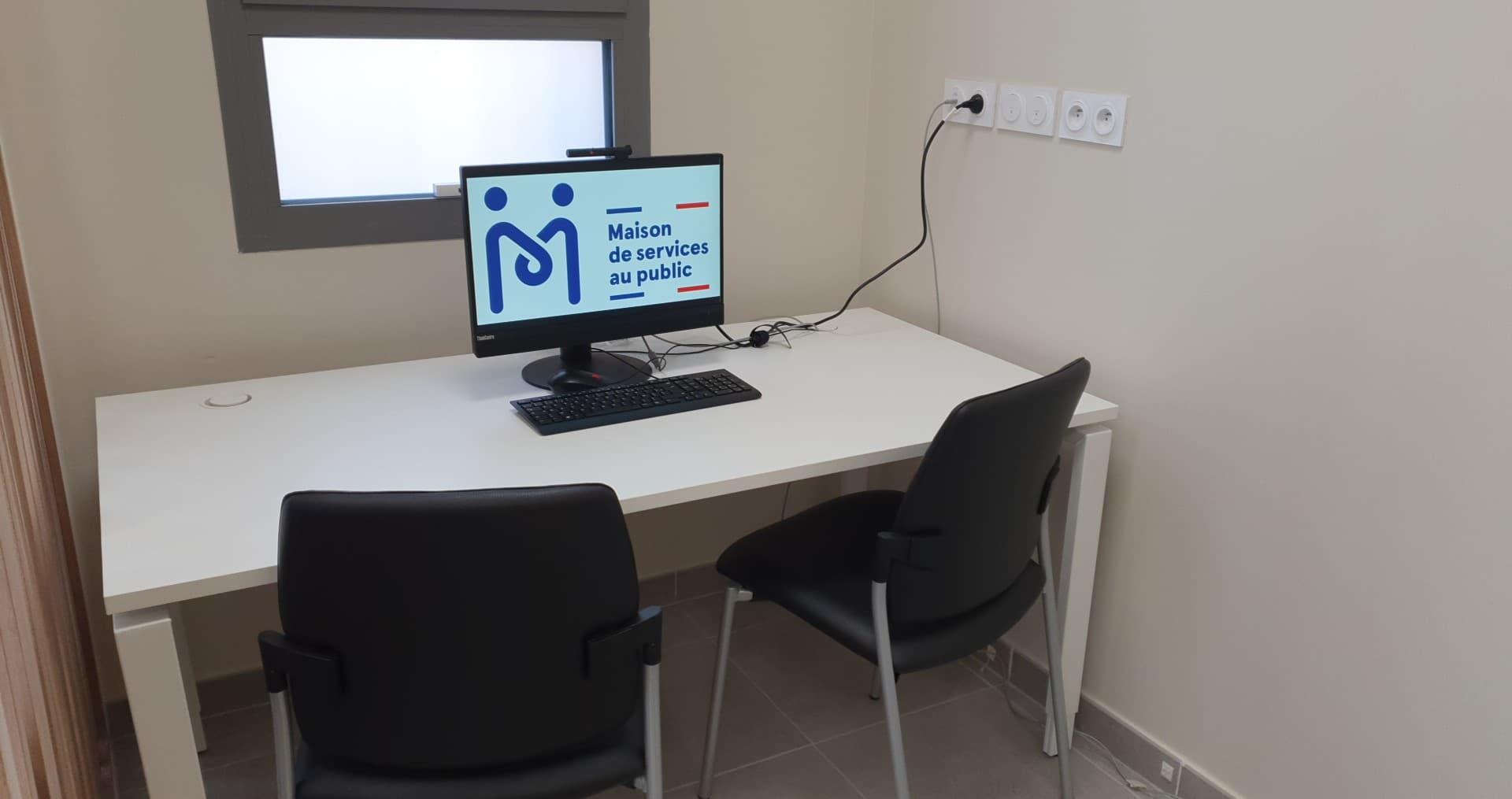 Un ordinateur à votre disposition