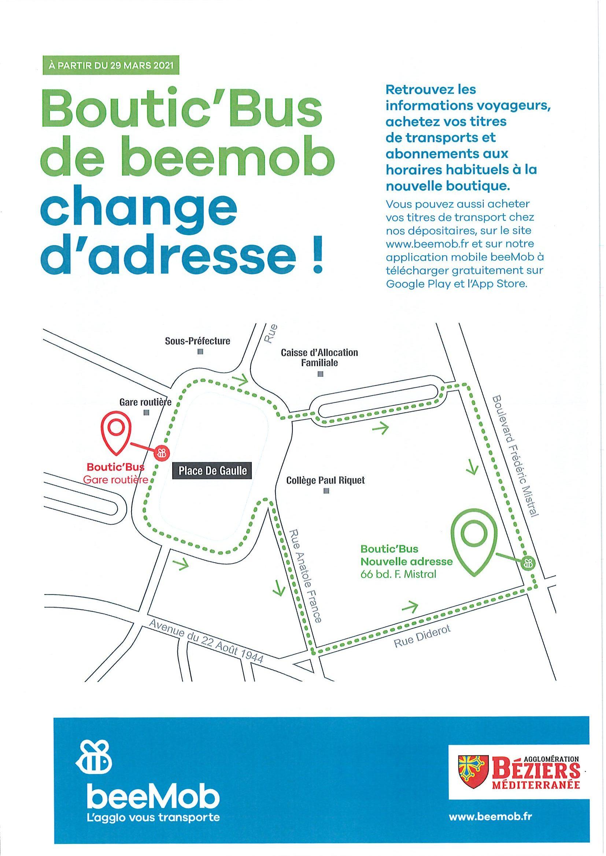 La Boutik'bus de Beemob change d'adresse au 29 mars 2021