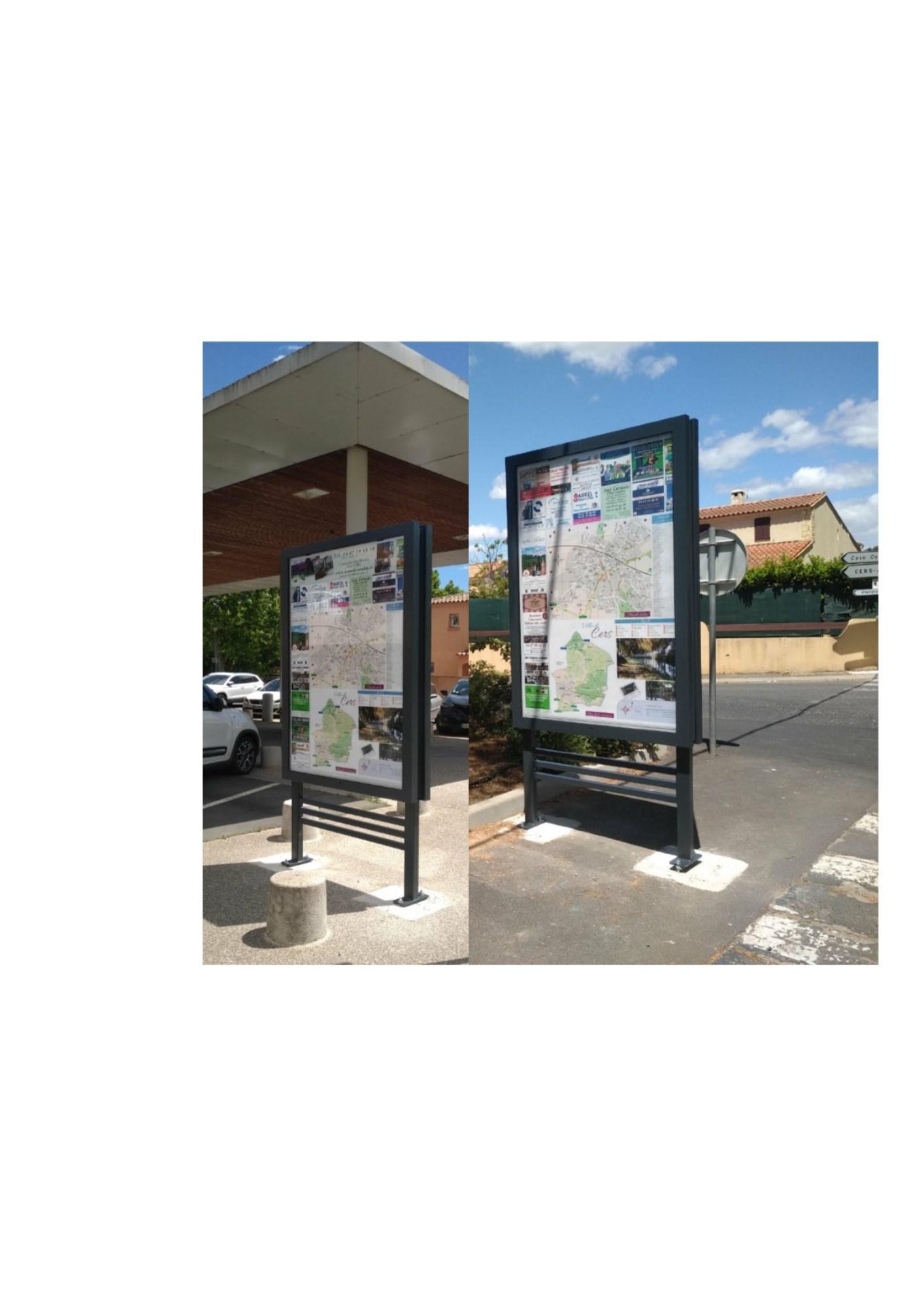 Deux nouveaux panneaux de villes installés : à l'entrée de Saint Privat et à l'arrière de la Mairie