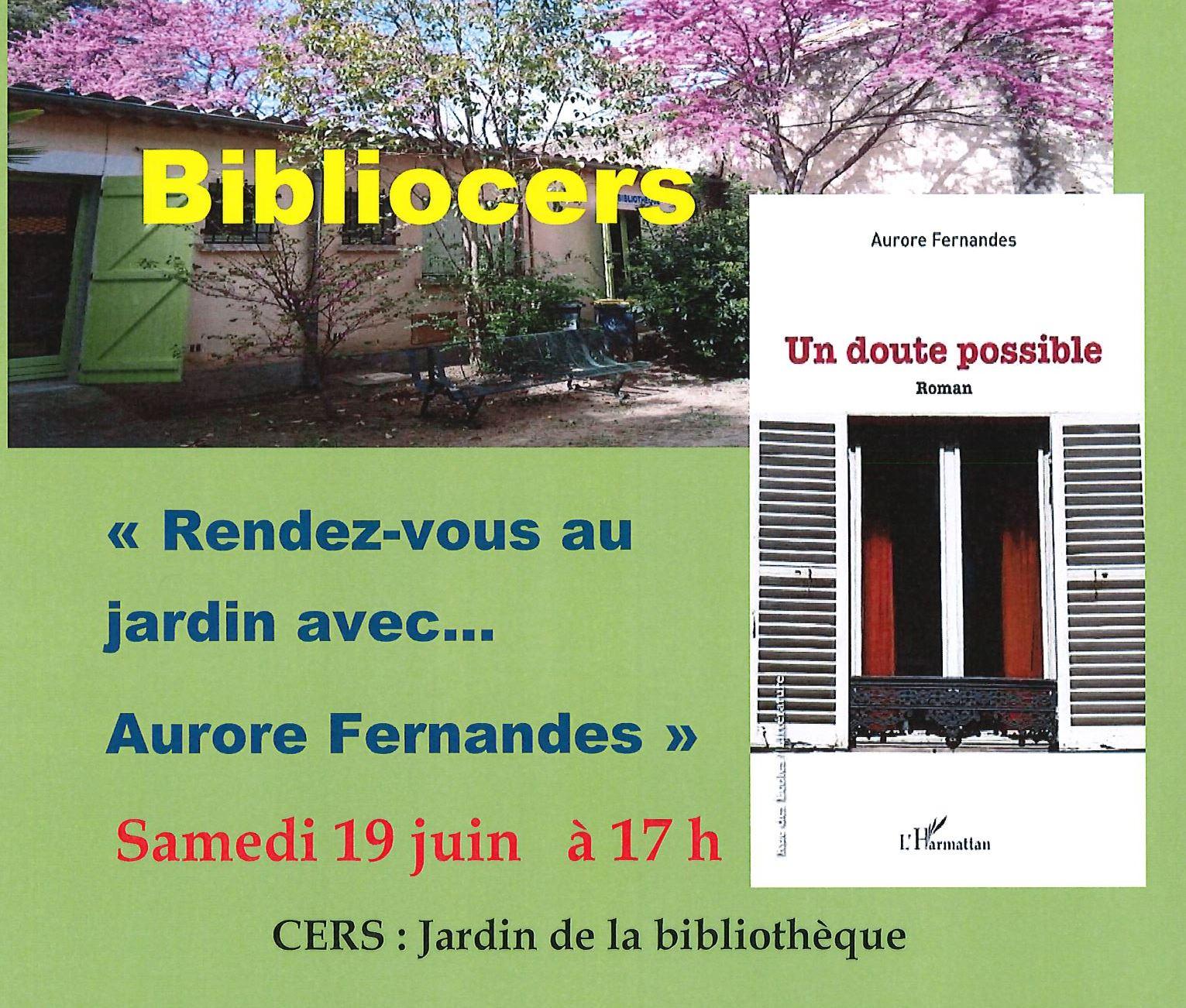 Bibliocers : Rendez-vous au jardin le 19 juin