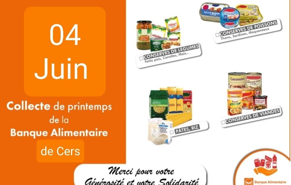 Collecte nationale pour la banque alimentaire : 4 juin 2021