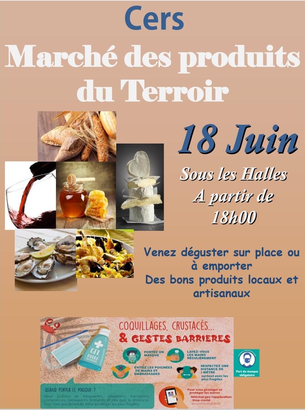 1er marché des produits du terroir ce vendredi 18 juin