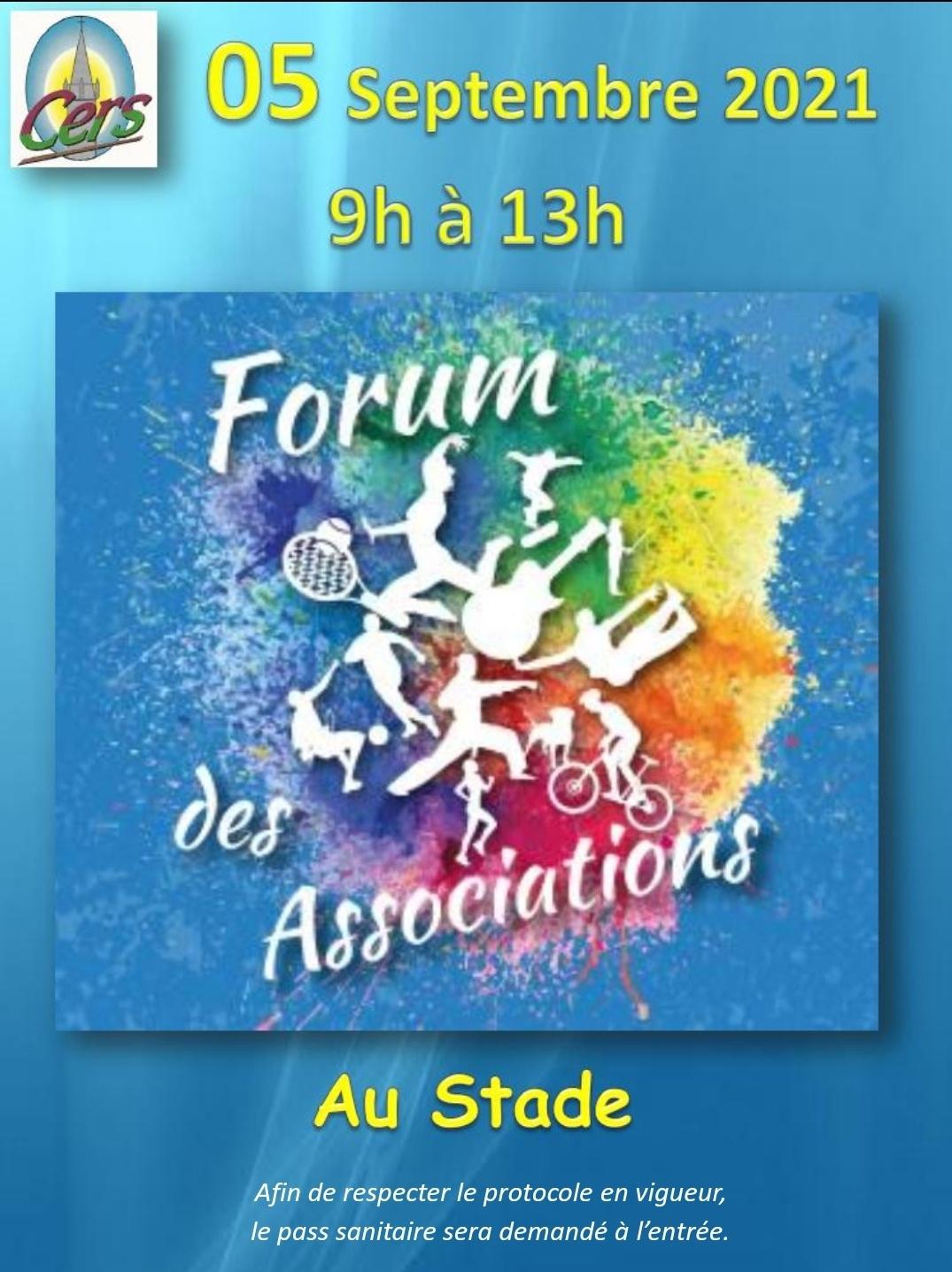 Forum des associations le 5 septembre au stade
