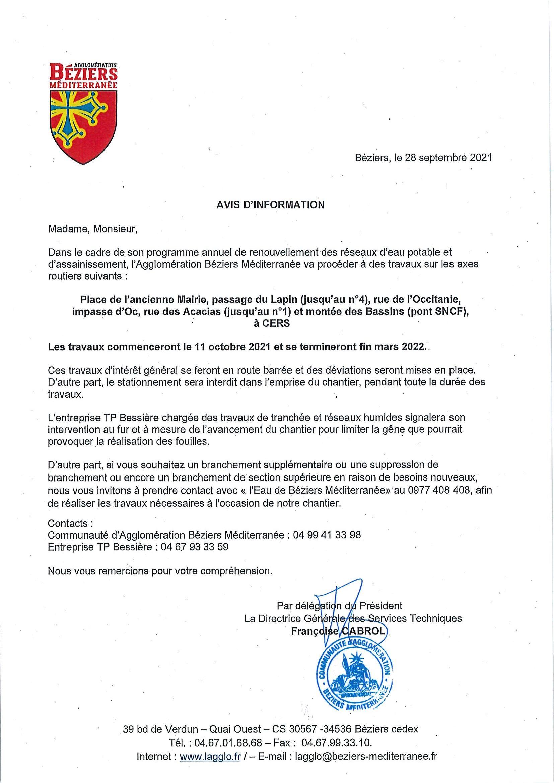 You are currently viewing Travaux de voirie du 11 octobre 2021 à fin mars 2022