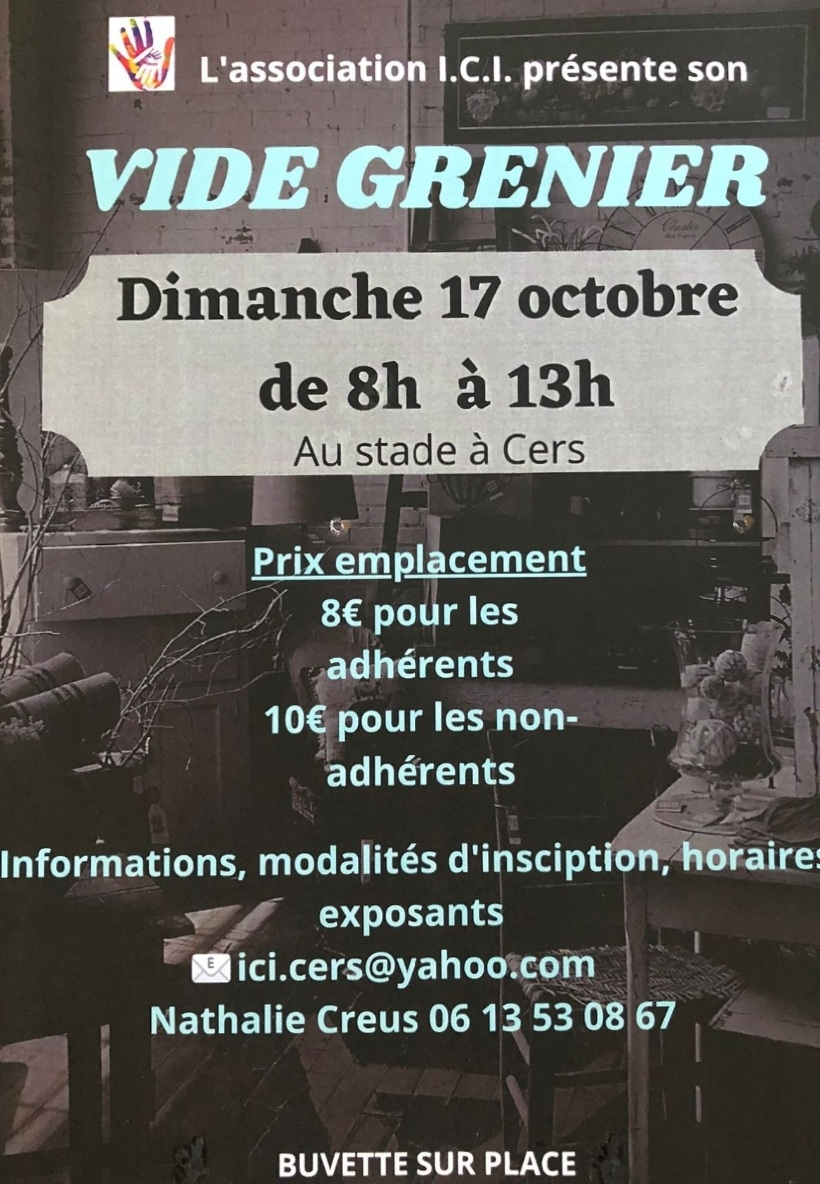 You are currently viewing Vide grenier le 17 octobre au stade